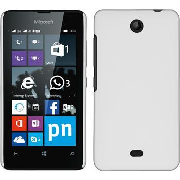 Hardcase for Microsoft Lumia 430 Dual rubberized white