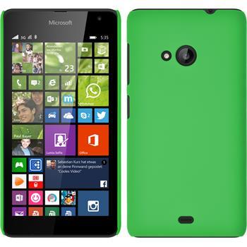 Hardcase for Microsoft Lumia 535 rubberized green