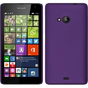 Hardcase for Microsoft Lumia 535 rubberized purple