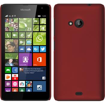 Hardcase for Microsoft Lumia 535 rubberized red