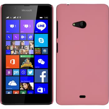 Hardcase for Microsoft Lumia 540 Dual rubberized pink