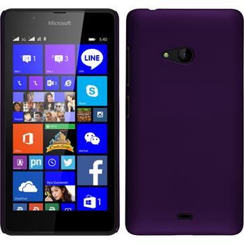 Hardcase for Microsoft Lumia 540 Dual rubberized purple