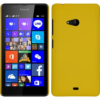 Hardcase for Microsoft Lumia 540 Dual rubberized yellow