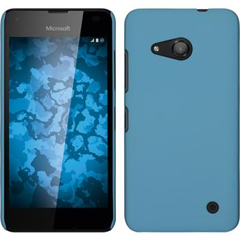 Hardcase for Microsoft Lumia 550 rubberized light blue