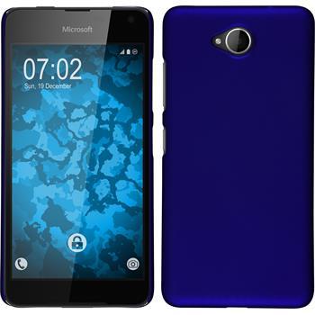 Hardcase for Microsoft Lumia 650 rubberized blue