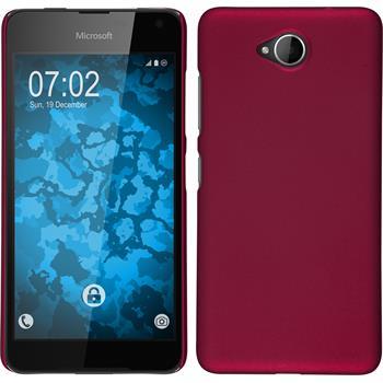 Hardcase for Microsoft Lumia 650 rubberized hot pink