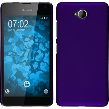 Hardcase for Microsoft Lumia 650 rubberized purple