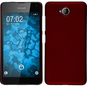 Hardcase for Microsoft Lumia 650 rubberized red