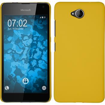 Hardcase for Microsoft Lumia 650 rubberized yellow