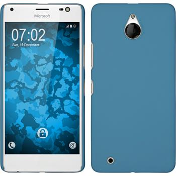 Hardcase for Microsoft Lumia 850 rubberized light blue