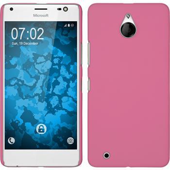 Hardcase for Microsoft Lumia 850 rubberized pink