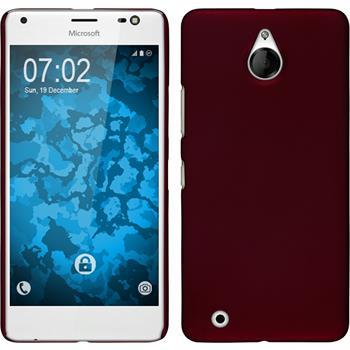 Hardcase for Microsoft Lumia 850 rubberized red