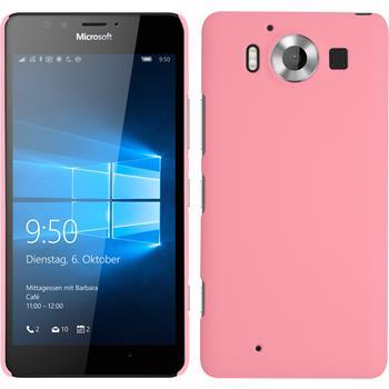 Hardcase for Microsoft Lumia 950 rubberized pink