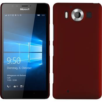 Hardcase for Microsoft Lumia 950 rubberized red
