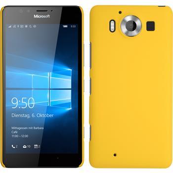 Hardcase for Microsoft Lumia 950 rubberized yellow
