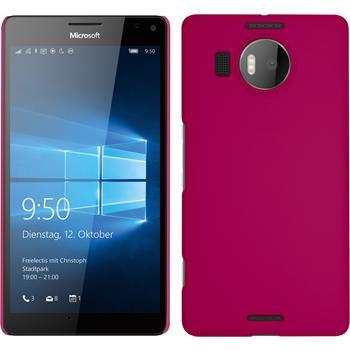 Hardcase for Microsoft Lumia 950 XL rubberized hot pink