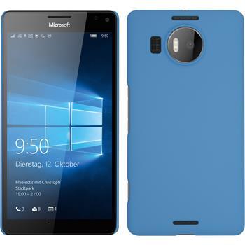 Hardcase for Microsoft Lumia 950 XL rubberized light blue
