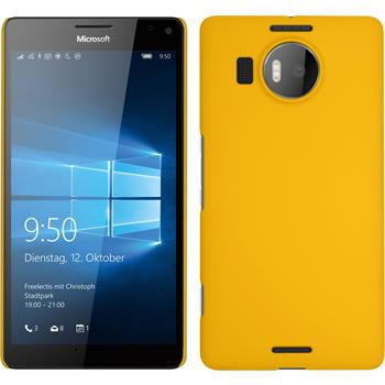 Hardcase for Microsoft Lumia 950 XL rubberized yellow