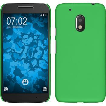 Hardcase for Motorola Moto G4 Play rubberized green