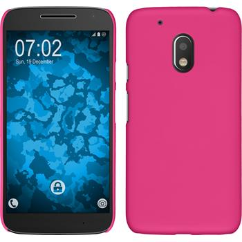 Hardcase for Motorola Moto G4 Play rubberized pink
