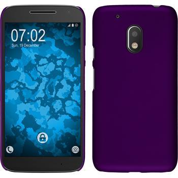 Hardcase for Motorola Moto G4 Play rubberized purple