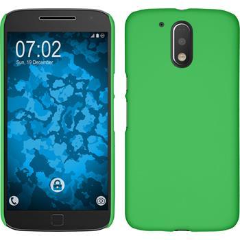 Hardcase for Motorola Moto G4 Plus rubberized green