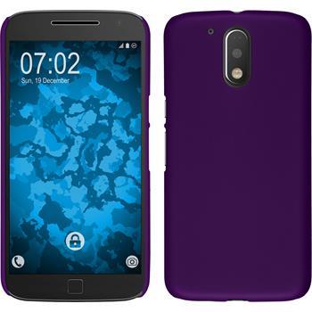 Hardcase for Motorola Moto G4 Plus rubberized purple