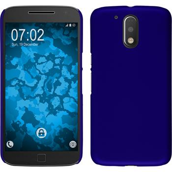 Hardcase for Motorola Moto G4 rubberized blue