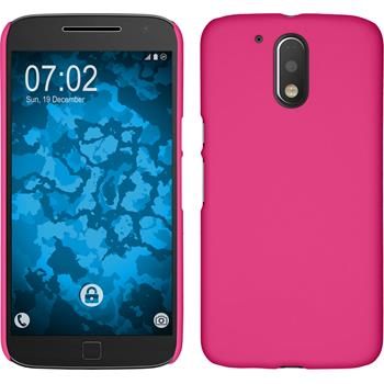 Hardcase for Motorola Moto G4 rubberized hot pink