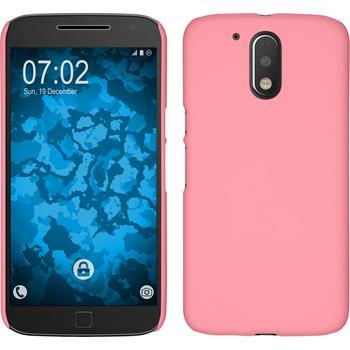 Hardcase for Motorola Moto G4 rubberized pink