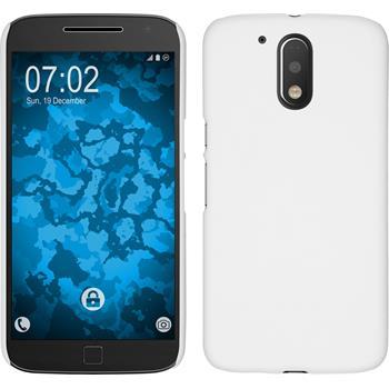 Hardcase for Motorola Moto G4 rubberized white