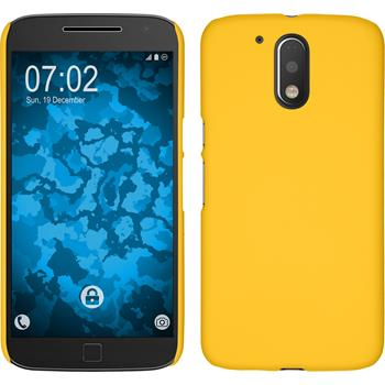 Hardcase for Motorola Moto G4 rubberized yellow