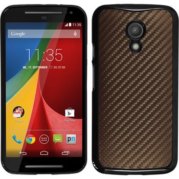 Hardcase for Motorola Moto G 2014 2. Generation carbon optics bronze
