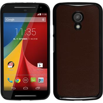 Hardcase for Motorola Moto G 2014 2. Generation leather optics brown