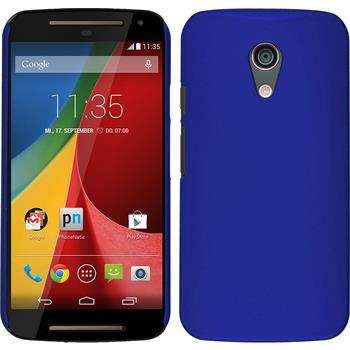 Hardcase for Motorola Moto G 2014 2. Generation rubberized blue