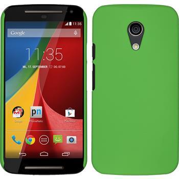 Hardcase for Motorola Moto G 2014 2. Generation rubberized green