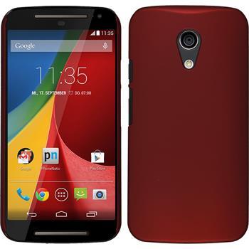 Hardcase for Motorola Moto G 2014 2. Generation rubberized red