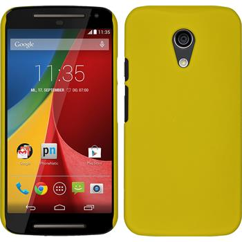 Hardcase for Motorola Moto G 2014 2. Generation rubberized yellow