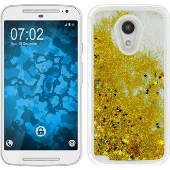 Hardcase for Motorola Moto G 2014 2. Generation Stardust gold
