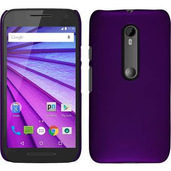 Hardcase for Motorola Moto G 2015 3. Generation rubberized purple