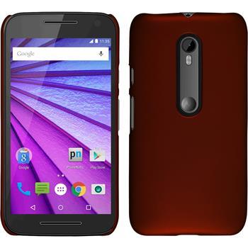 Hardcase for Motorola Moto G 2015 3. Generation rubberized red
