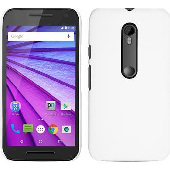 Hardcase for Motorola Moto G 2015 3. Generation rubberized white
