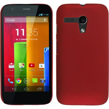 Hardcase for Motorola Moto G rubberized red