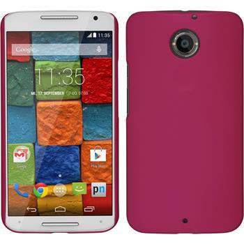 Hardcase for Motorola Moto X 2014 2. Generation rubberized hot pink