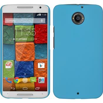 Hardcase for Motorola Moto X 2014 2. Generation rubberized light blue