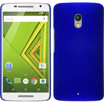 Hardcase for Motorola Moto X Play rubberized blue
