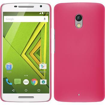 Hardcase for Motorola Moto X Play rubberized hot pink