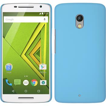 Hardcase for Motorola Moto X Play rubberized light blue