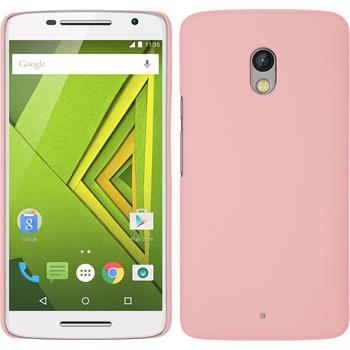 Hardcase for Motorola Moto X Play rubberized pink