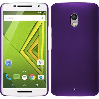 Hardcase for Motorola Moto X Play rubberized purple